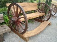 Banco Rústico - Modelo Roda de Carreta