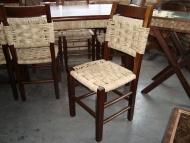 Cadeira Palha Modelo Xadrez